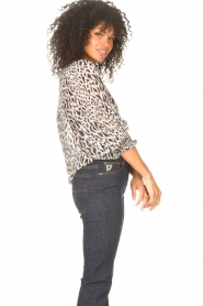 Freebird |  Top with leopard print Tisha | nude  | Picture 6