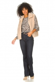 Freebird |  Top with leopard print Tisha | nude  | Picture 3