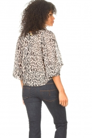 Freebird |  Top with leopard print Tisha | nude  | Picture 7