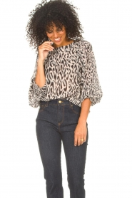 Freebird |  Top with leopard print Tisha | nude  | Picture 4