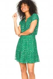 Lolly's Laundry | Top met lurex Heather | groen   | Afbeelding 2