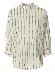 Lolly's Laundry |  Cotton blouse with checked pattern Ralf | multi  | Picture 1