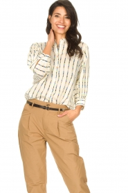 Lolly's Laundry |  Cotton blouse with checked pattern Ralf | multi  | Picture 4