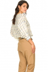 Lolly's Laundry |  Cotton blouse with checked pattern Ralf | multi  | Picture 6