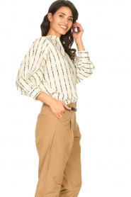 Lolly's Laundry |  Cotton blouse with checked pattern Ralf | multi  | Picture 5