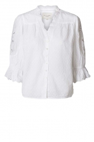 Lolly's Laundry |  Cotton broderie blouse Charlie | white   | Picture 1