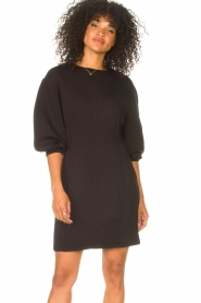 Freebird |  Dress with balloon sleeves Aladin | black  | Picture 2