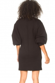 Freebird |  Dress with balloon sleeves Aladin | black  | Picture 7