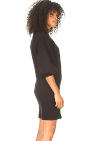 Freebird |  Dress with balloon sleeves Aladin | black  | Picture 6