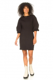 Freebird |  Dress with balloon sleeves Aladin | black  | Picture 3