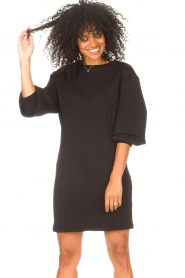 Freebird |  Dress with balloon sleeves Aladin | black  | Picture 5