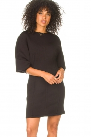 Freebird |  Dress with balloon sleeves Aladin | black  | Picture 4