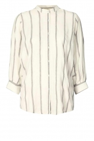 Lolly's Laundry |  Cotton blouse with lurex Ralf | natural  | Picture 1