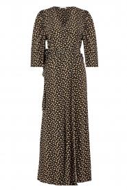 Freebird |  Maxi dress with print Esmee | black  | Picture 1