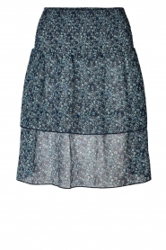 Lolly's Laundry |  Floral skirt Magda | blue  | Picture 1