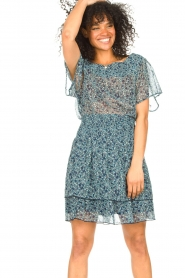 Lolly's Laundry |  Floral skirt Magda | blue  | Picture 2