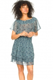 Lolly's Laundry |  Floral skirt Magda | blue  | Picture 4