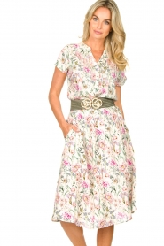 Lolly's Laundry |  Floral midi skirt Ella | natural  | Picture 2