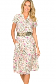 Lolly's Laundry |  Floral midi skirt Ella | natural  | Picture 4