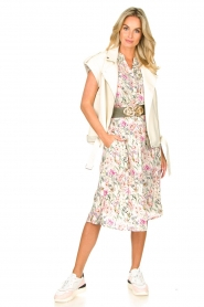 Lolly's Laundry |  Floral midi skirt Ella | natural  | Picture 3