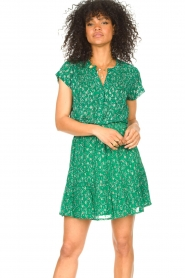 Lolly's Laundry |  Skirt with lurex Alexa | green  | Picture 3