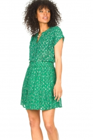 Lolly's Laundry |  Skirt with lurex Alexa | green  | Picture 5
