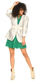 Lolly's Laundry |  Skirt with lurex Alexa | green  | Picture 4