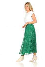 Lolly's Laundry   Maxi-rok met lurex Bonny   groen     Afbeelding 3