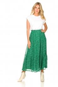 Lolly's Laundry   Maxi-rok met lurex Bonny   groen     Afbeelding 2