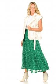 Lolly's Laundry   Maxi-rok met lurex Bonny   groen     Afbeelding 6