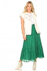 Lolly's Laundry   Maxi-rok met lurex Bonny   groen     Afbeelding 7