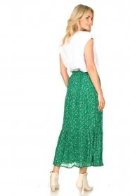 Lolly's Laundry   Maxi-rok met lurex Bonny   groen     Afbeelding 4
