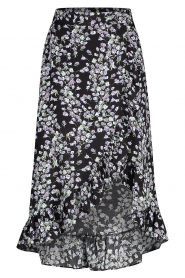 Freebird |  Maxi dress with floral print Alina | black  | Picture 1