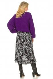 Freebird | Maxi rok met bloemenprint Alina | zwart  | Afbeelding 7