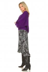 Freebird | Maxi rok met bloemenprint Alina | zwart  | Afbeelding 6