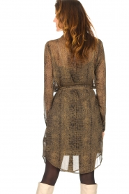 Freebird |  Transparent dress with croc print Amina | black  | Picture 7