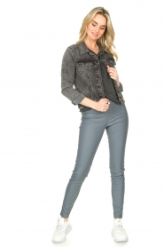 Knit-ted |  Faux leather leggings Amber | blue  | Picture 2