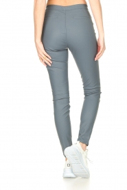 Knit-ted |  Faux leather leggings Amber | blue  | Picture 6