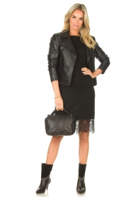 Freebird    Sweater dress with lace Ilsa   black    Picture 4