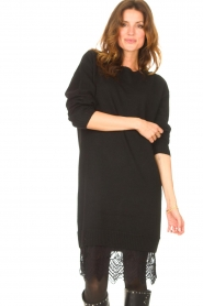Freebird    Sweater dress with lace Ilsa   black    Picture 2