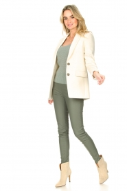 Knit-ted |  Faux leather legging Amber | green  | Picture 2