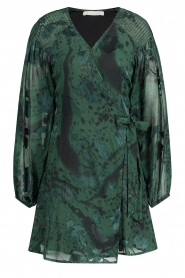 Freebird |  Wrapped dress with print Odiela | green  | Picture 1