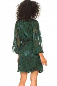 Freebird |  Wrapped dress with print Odiela | green  | Picture 7