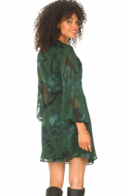Freebird |  Wrapped dress with print Odiela | green  | Picture 6
