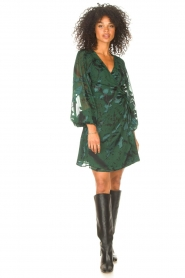Freebird |  Wrapped dress with print Odiela | green  | Picture 3
