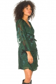 Freebird |  Wrapped dress with print Odiela | green  | Picture 5