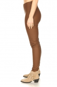 Knit-ted |  Faux leather legging Amber | brown  | Picture 5