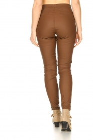 Knit-ted |  Faux leather legging Amber | brown  | Picture 6
