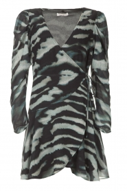 Freebird |  Dress with print Omra | black  | Picture 1