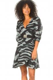Freebird |  Dress with print Omra | black  | Picture 2